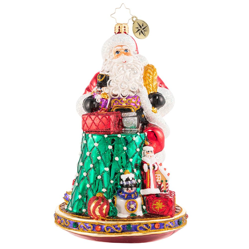 Christopher Radko Can I Have Your Autograph, Santa? Ornament