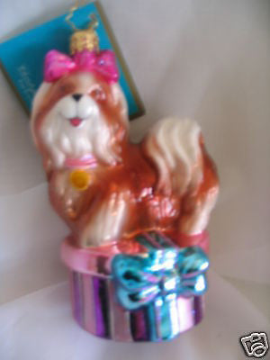 Radko SHIH SHIH TZU TRE CHIC DOG ornament