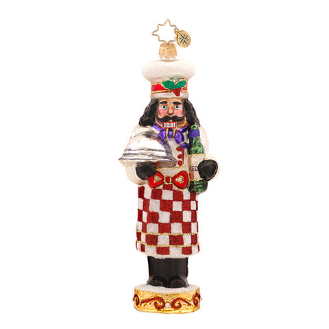 Radko CAFE COOKING CRACKER Nutcracker & wine ornament NEW