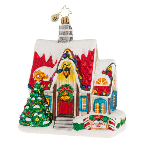 Christopher Radko CHRISTMAS AUBERGE House ornament