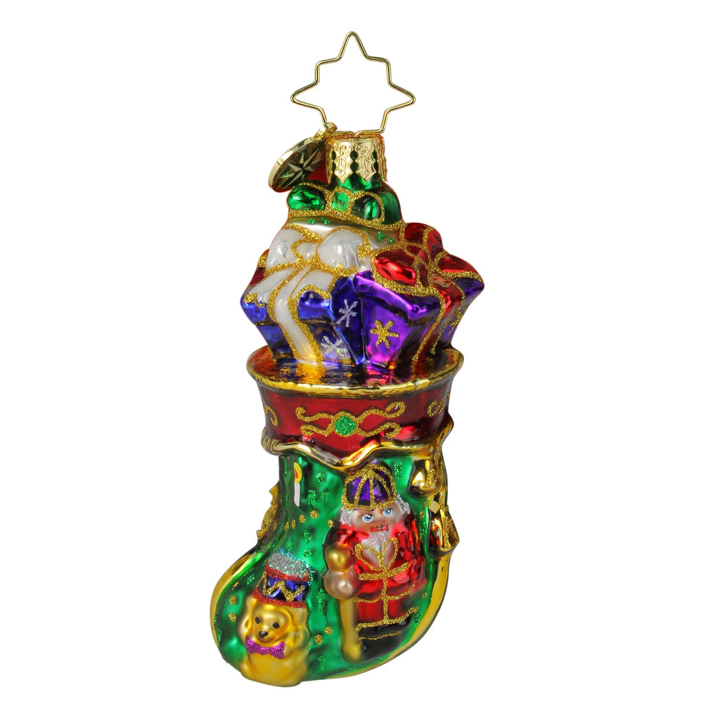 Christopher Radko Royal Stocking Stuffer Gem with Nutcracker Ornament