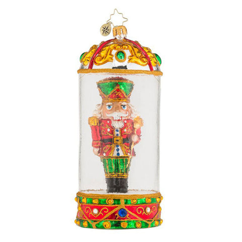 Radko COMMANDING CRACKER Special Nutcracker Dome ornament