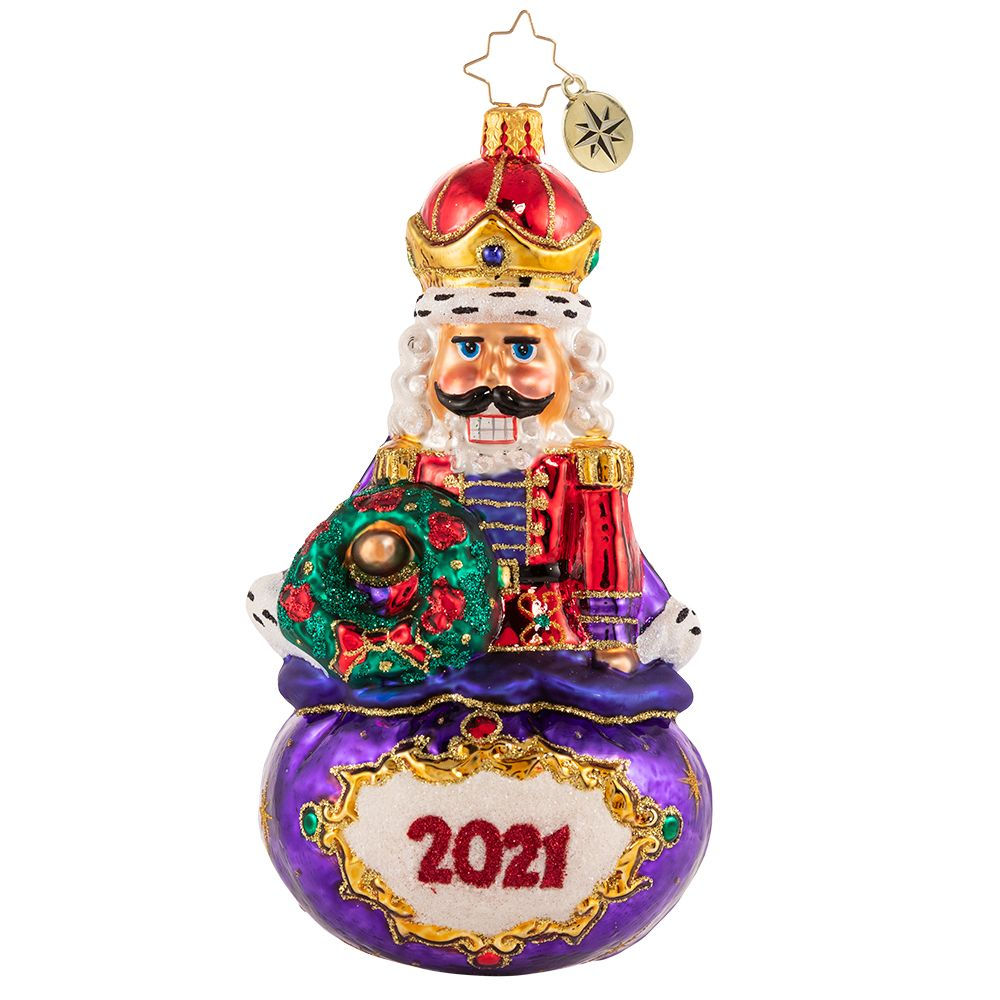 Christopher Radko 2021 Dated Imperial Icon Nutcracker Ornament