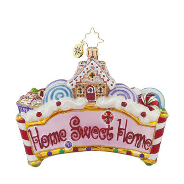 Radko HOME SWEET HOME Gingerbread House & Candy Ornament New