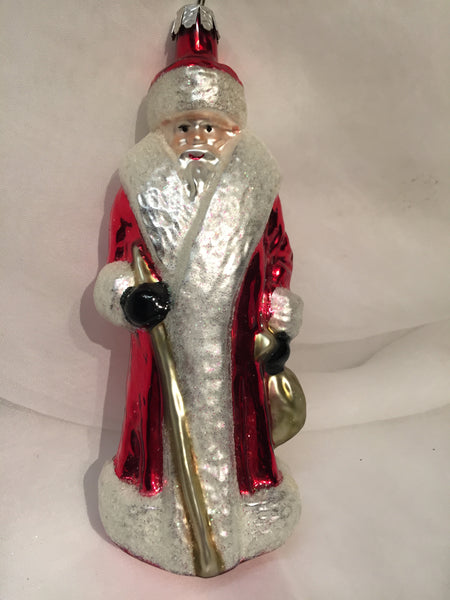 Radko RUSSIAN Red SANTA Series 1991 ornament