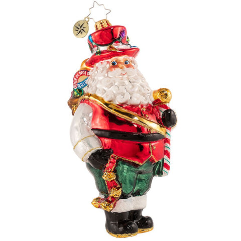 Christopher Radko Picnic Time! Santa Ornament