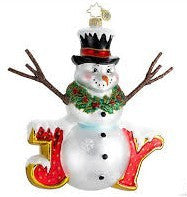 Radko JUMP FOR JOY Snowman ornament NEW
