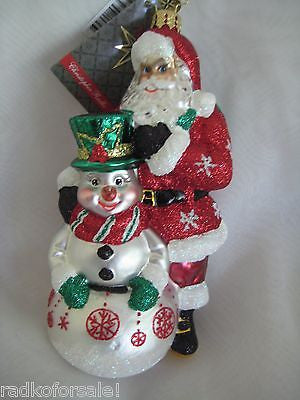 Radko THERE'S SNOW FRIEND LIKE YOU ornament Retired Sale
