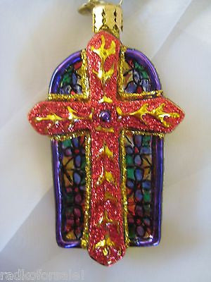 Radko LITTLE GEMS Chapel Luminance CROSS gem ornament NEW