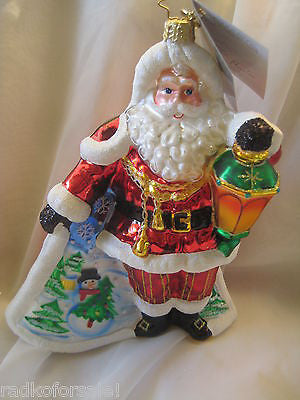 Radko SCENIC SURPRISE SANTA Limited Edition 1500 ornament NEW