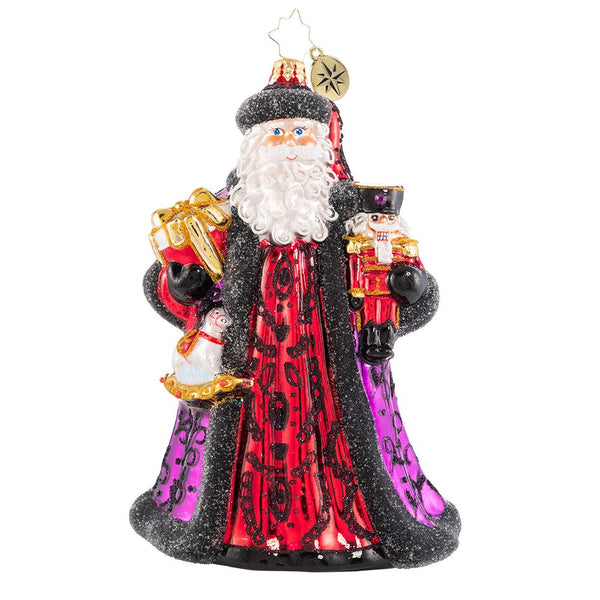 Christopher Radko Bearing Bountiful Gifts Santa Ornament