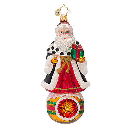 Radko NORTHERN NOBILITY Santa Reflector ornament NEW