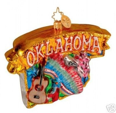 Christopher Radko OKLAHOMA STATE Celebrate 100th ornament