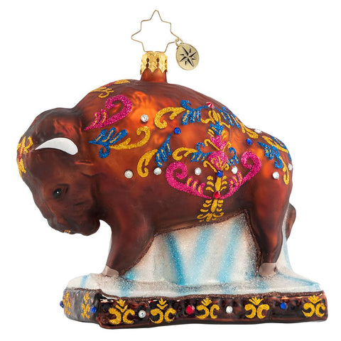 Christopher Radko Most Beauteous Bison Ornament