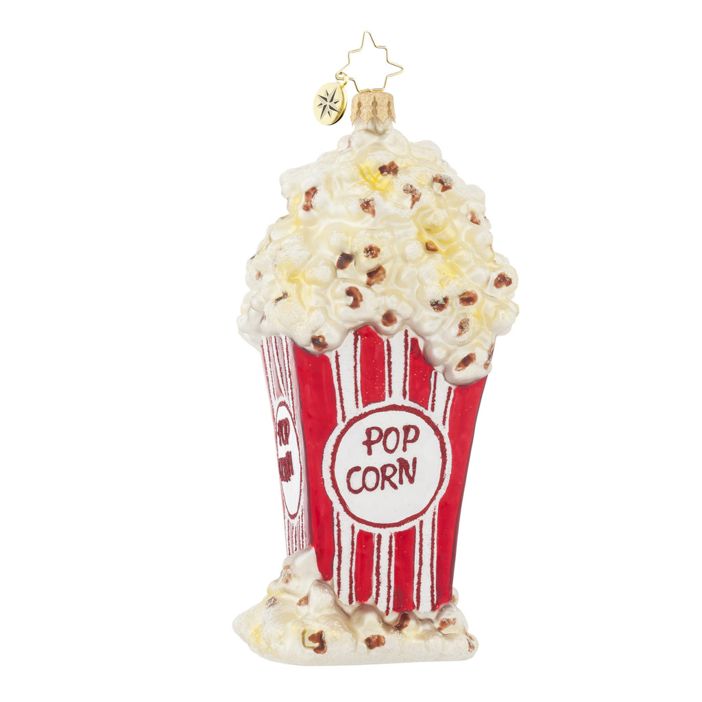 Radko PERFECTLY POPPED Popcorn Movie ornament New