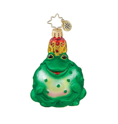 Radko Little Gem PRINCELY PUCKER Frog Prince Charming ornament NEW