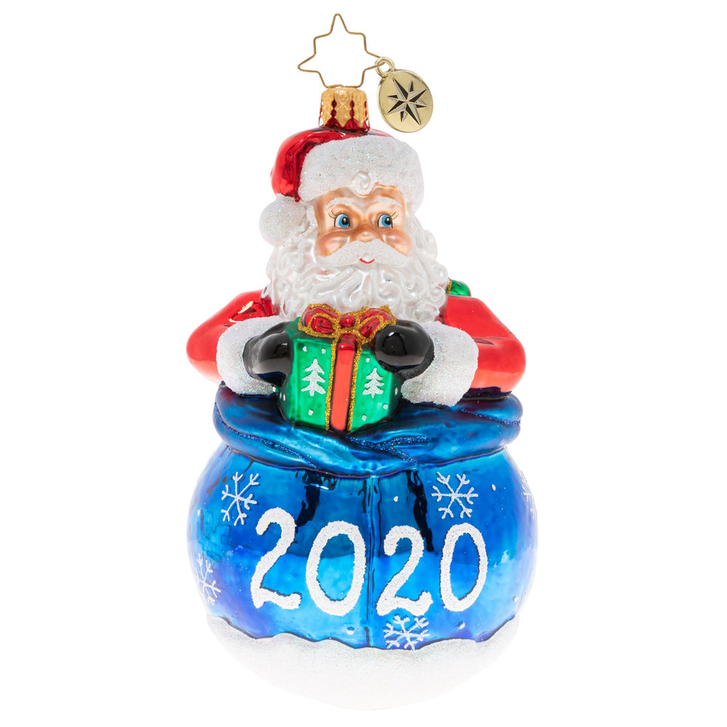 Christopher Radko 2020 Dated A Year Of Cheer! Santa Ornament