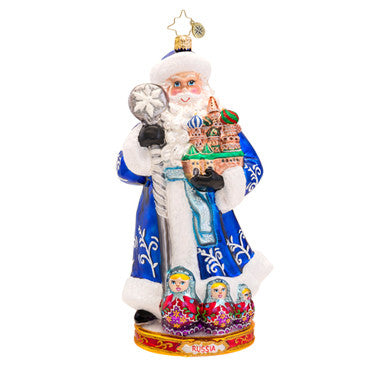 Radko FROM RUSSIA WITH LOVE Santa Nesting Dolls ornament New