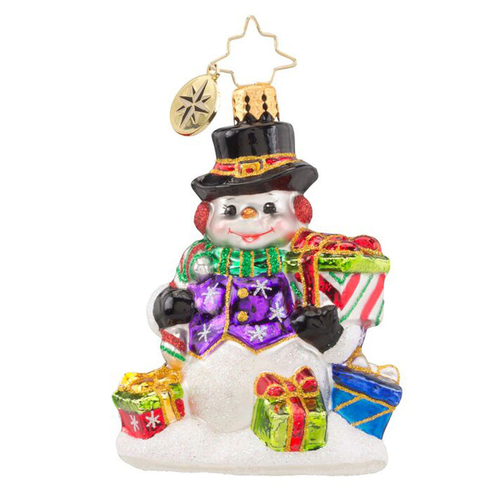 Radko Little Gems SNOW DRIFT GIFTS Snowman gem ornament NEW