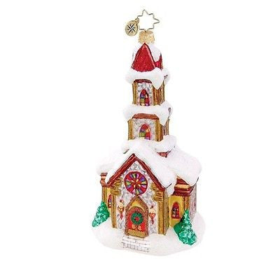 Christopher Radko COUNTRY CATHEDRAL Church ornament