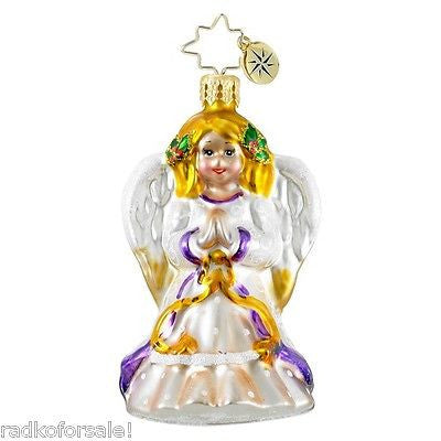 Radko LITTLE GEMS Holly Halo Blonde Angel ornament gem NEW