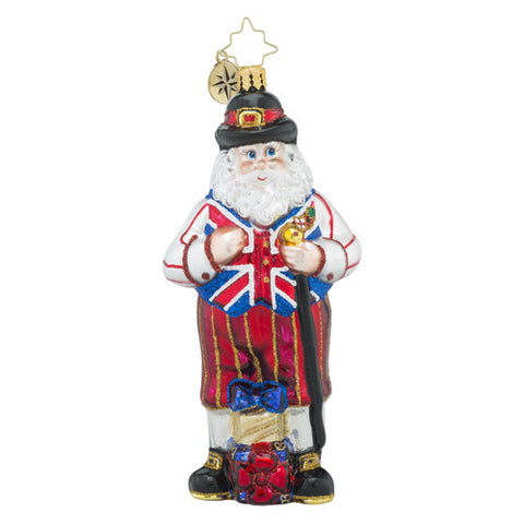 Christopher Radko UK KNICKERS Santa Christmas Ornament