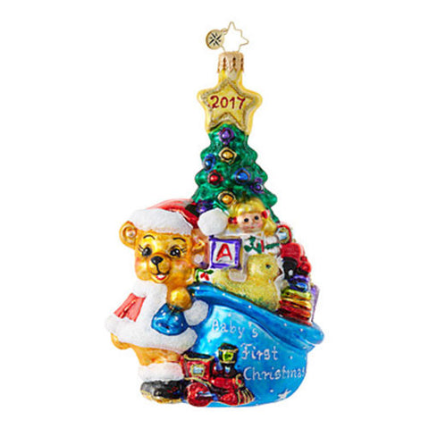 Radko Baby A FIRST FOR EVERYTHING Christmas Ornament Dated 2017