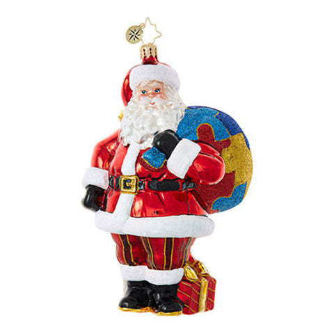 Radko A PIECE OF THE PUZZLE Santa Autism Ornament NEW 2017