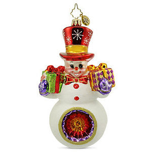 Radko Gifts for Two Snowman reflector ornament NEW