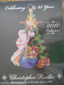 Christopher Radko 2010 COLOR CATALOG NEW sealed unused