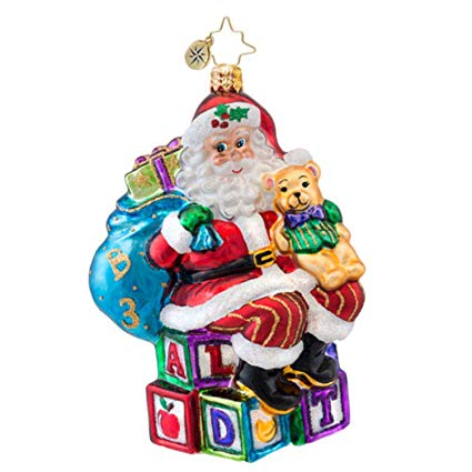 Christopher Radko ABC SANTA Baby Kids Christmas ornament