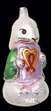 Radko AIDS 1993 #1 Shy Rabbit's Heart ornament -