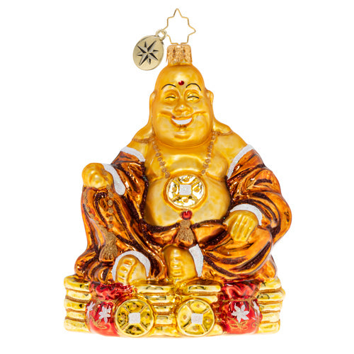 Christopher Radko Ain't Life Rich? Buddha ornament