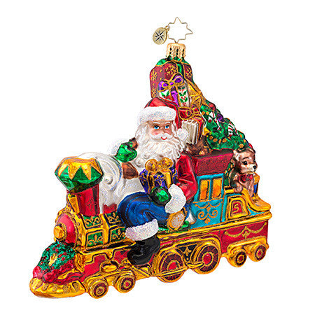 Radko ALL ABOARD FOR CHRISTMAS Train ornament NEW
