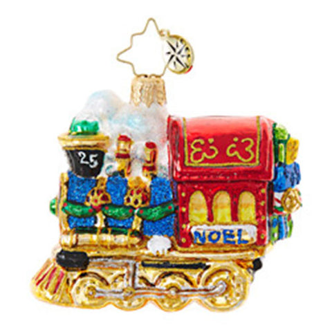 Christopher Radko ALL ABOARD FOR CHRISTMAS Train GEM ornament