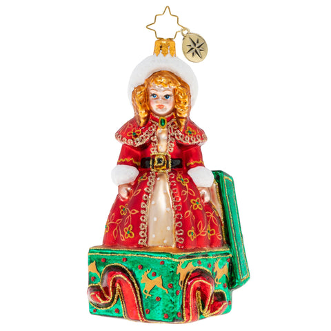 Christopher Radko All Dolled Up For Christmas Doll Girl ornament