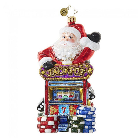 Radko ALL IN SANTA Jackpot vegas Ornament New 2017