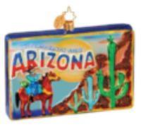 Christopher Radko ARIZONA Grand Canyon Greetings STATE ornament