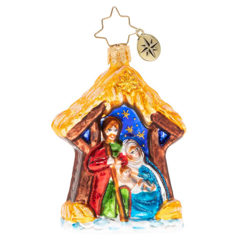 Christopher Radko Asleep In The Manger Gem Nativity Ornament