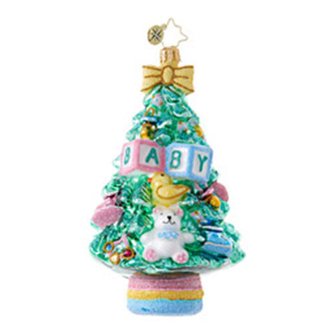 Radko BABY What a Tree! First Christmas Ornament NEW 2017