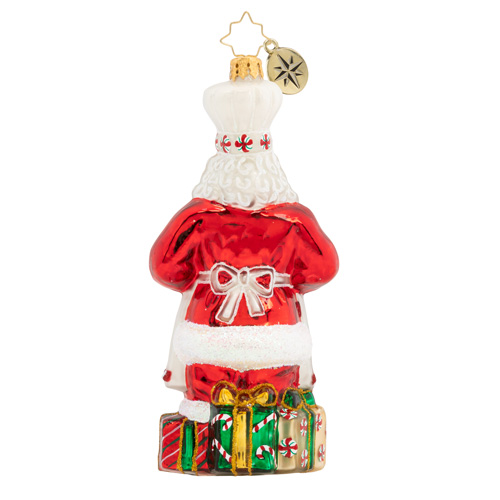 Christopher Radko Baked With Love Santa & Cake Ornament