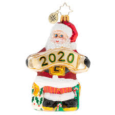 Christopher Radko 2020 Dated A Banner Year For Santa Ornament
