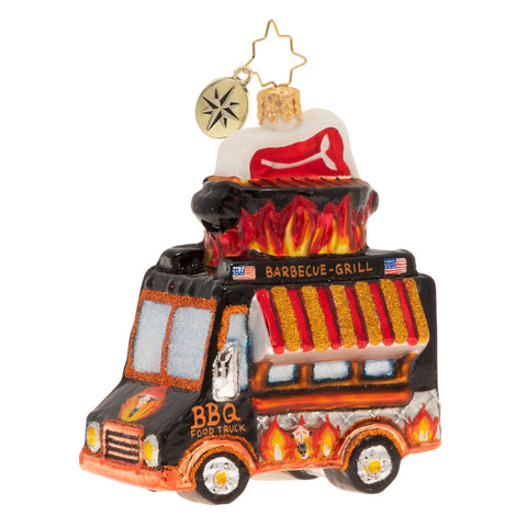 Christopher Radko Fit For A Foodie BBQ Truck Food ornament
