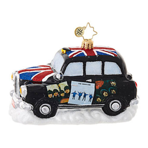 Christopher Radko  The Beatles Cab Car Album Cover Ornament NEW