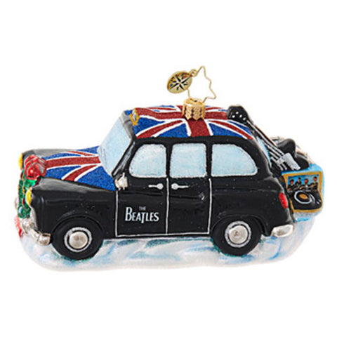 Christopher Radko The Beatles Cab Car Instruments Ornament