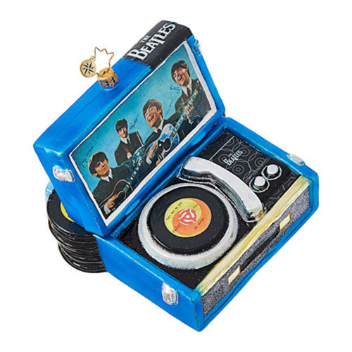 Christopher Radko  The Beatles Record Player Christmas Ornament  New