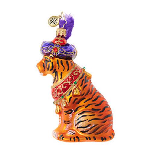 Christopher Radko BEGUILING TIGER Christmas JUNGLE Ornament