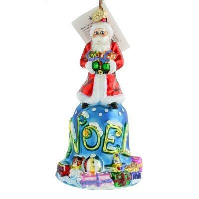 Radko Bell De Noel Santa ornament NEW