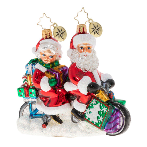 Christopher Radko A Bicycle Built For Two Couple Ornament