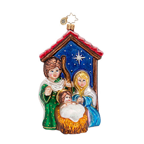 Radko BLESSED BIRTH Nativity Christmas Play ornament NEW
